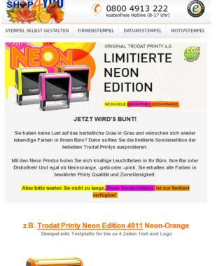 Newsletter Marketing für Stempelshop4you