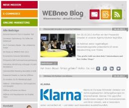Wordpress Blog von webneo.de