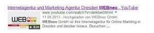 SEO Video Suchmaschinenoptimierung Youtube Suchergebnisse