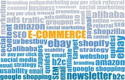 E-Commerce tagcloud - e-commerce web site business