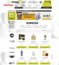 Kategorieseite vor Optimierung Bodybrands4you.de