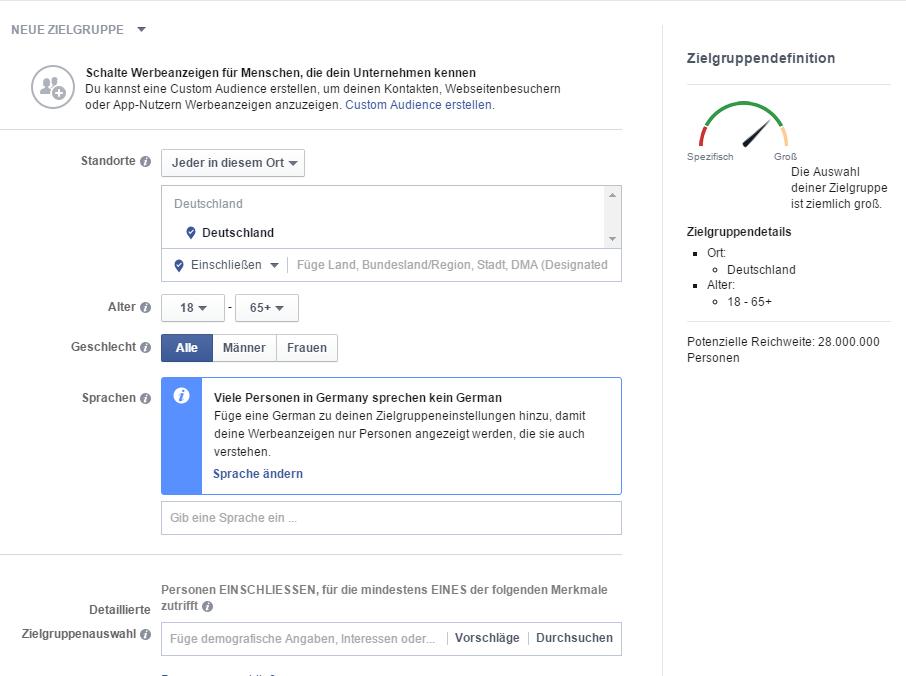 Facebook-Werbung-Agentur-Facebook-Zielgruppenauswahl