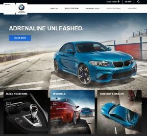 BMW Website USA Quelle: www.bmwusa.com