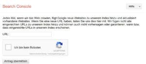 Suchmaschineneintrag Google