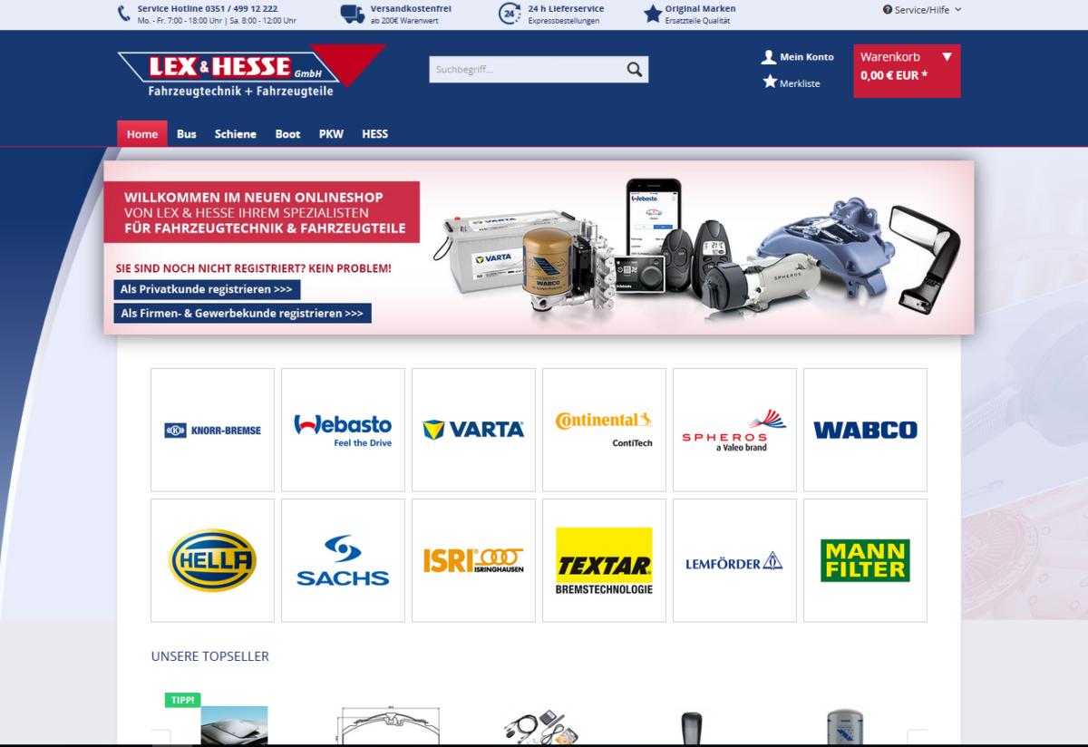 Lex & Hesse Online Shop