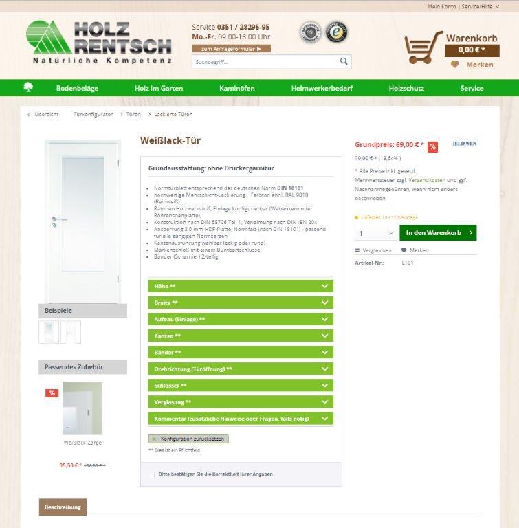 Shopware 5 Kalkulator Beispiel