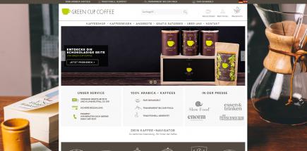 Onlineshop erstellen für Green-cup