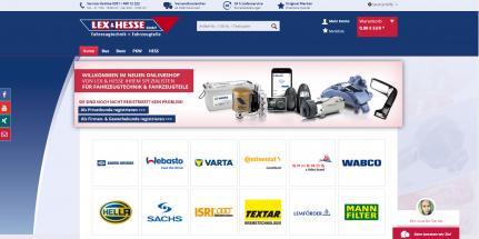 Onlineshop erstellen für Lex & Hesse