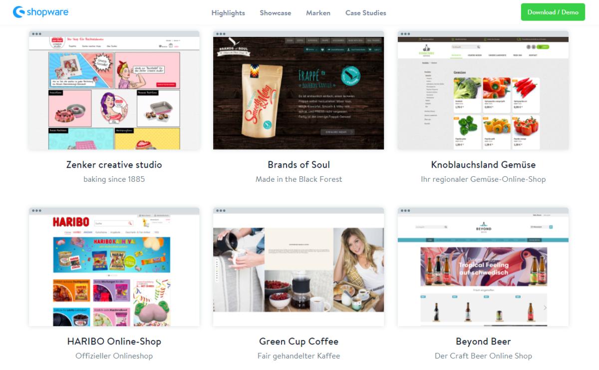 Shopware-Showcase mit Green-Cup-Coffee