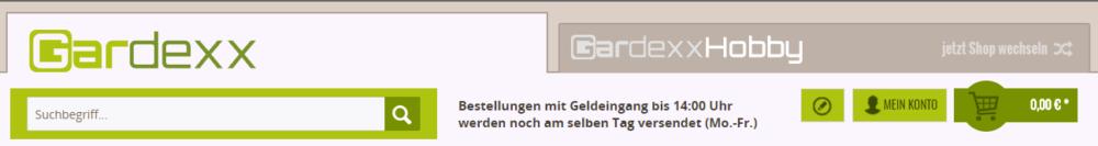 Gardexx - neuer Shopware Shop und Logo