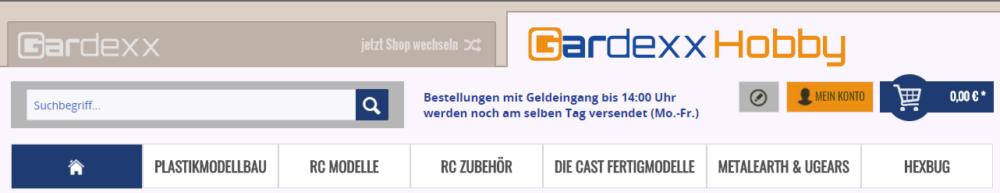 Gardexx Hobby - neuer Shopware Subshop und Logo