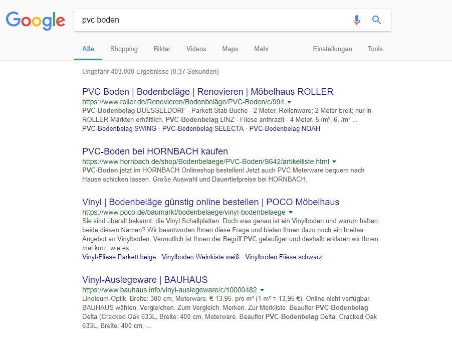Dynamisch generierte Google Snippets auf der Suchergebnissseite