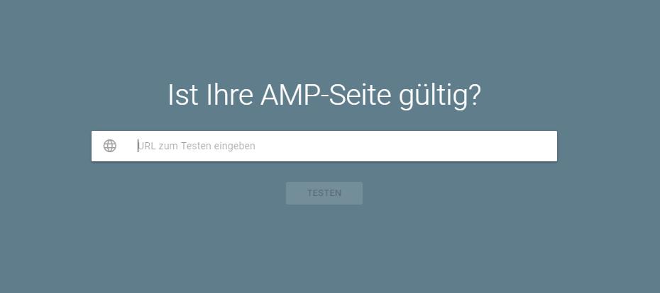 AMP-Seiten-Google-Testtool