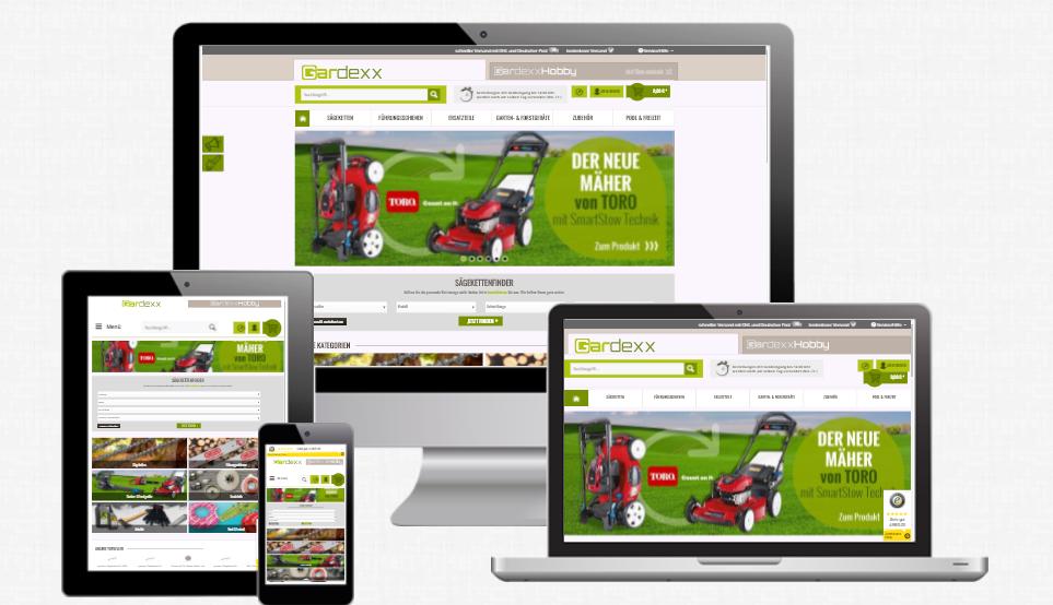 Responsive-Webdesign-Gardexx.de