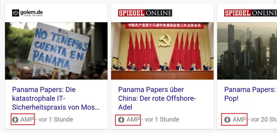 google-amp-nachrichtenseiten