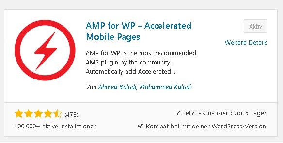 AMP Seite im Wordpress einrichten