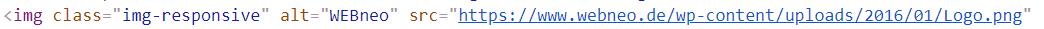 Beispiel Alt-Tag beim WEBneo Logo