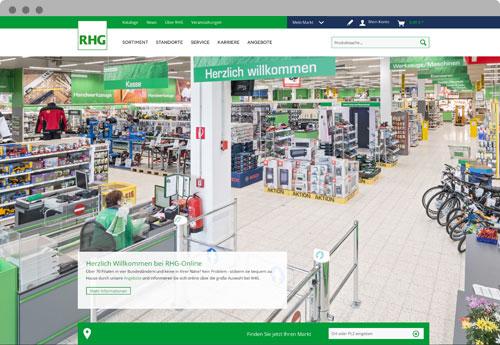 RHG Onlineshop Startseite - WEBneo Casestudy