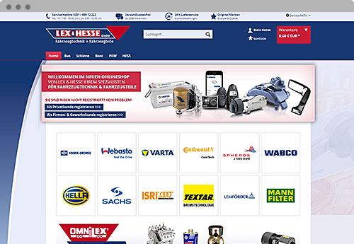 Lex-Hesse.com - Mockup Onlineshop