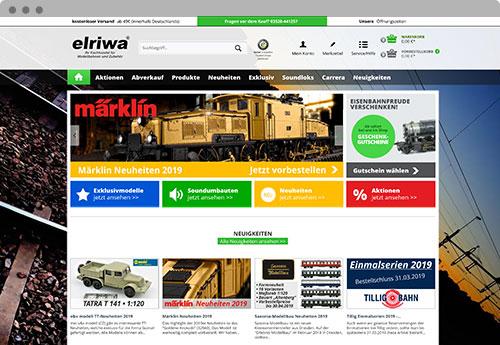 www.elriwa.de - Mockup Onlineshop
