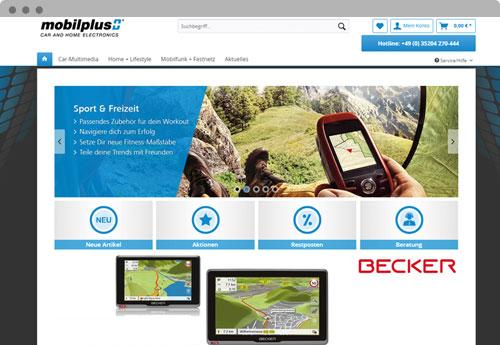 Mobilplus.com Mockup Onlineshop