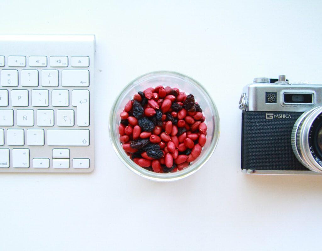 Tastatur Schale alte Kamera