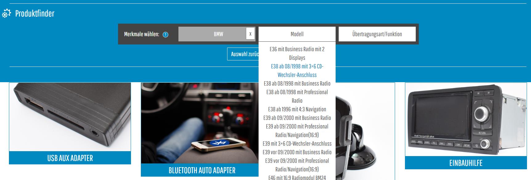 MusikimAuto-JTL-Shop-Produktfinder-Anklicken-Modell