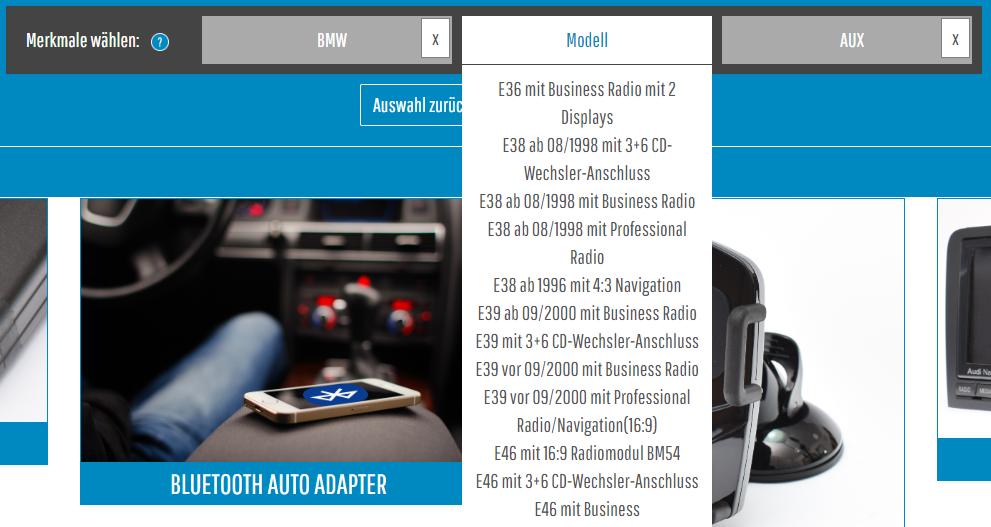 MusikimAuto-JTL-Shop-Produktfinder-Auswahlmoeglichkeiten