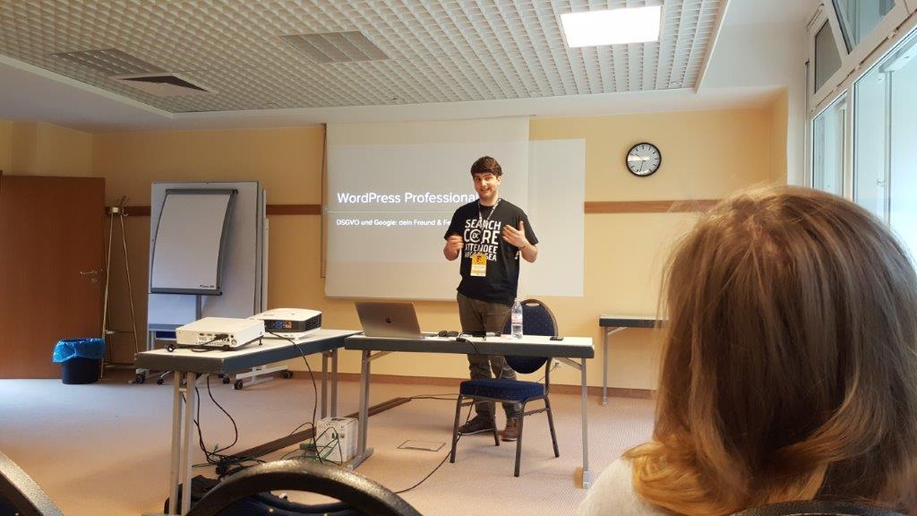 Sebastian Eggersberger zu WordPress Professional V bei der SEO Campixx 2019