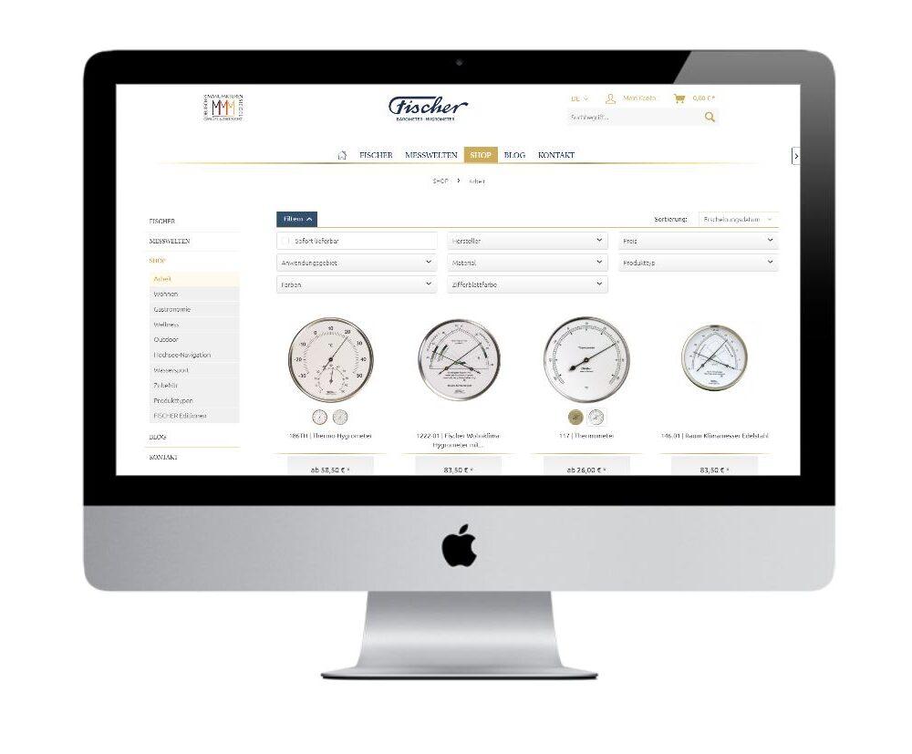 Shopware Filter: Beispiel Fischer-Barometer
