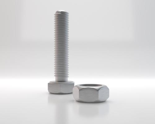 3D Grafiken / Rendering: Beispiel Schraube