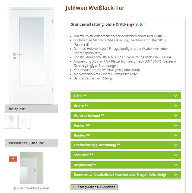 Konfigurator auf ihr-holzshop.de