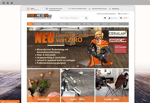 Bodenheld24.de Mockup Onlineshop Startseite